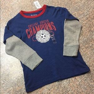 Children's Place navy college soccer champion T
